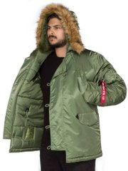 Зимняя теплая парка Alpha Industries Alpha N-3B Parka Sage Green XXL - оригинал