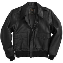 Куртка Alpha Industries A-2 Leather Black M