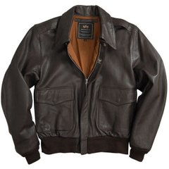 Куртка Alpha Industries A-2 Leather Brown S