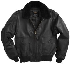 Куртка Alpha Industries G-1 Leather Black S